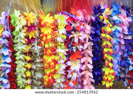 Flower Necklaces For Sale  - stock photo