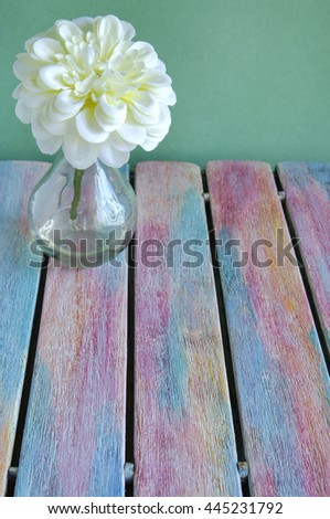 Flower on rustic wood background