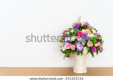 flower on table  - stock photo