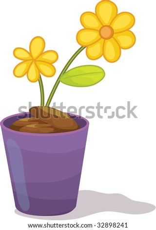 flower pot (vector image available in portfolio)