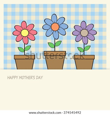 Flower Pots - Happy Mother's Day