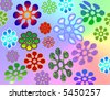 Flower Power Illustration - stock photo