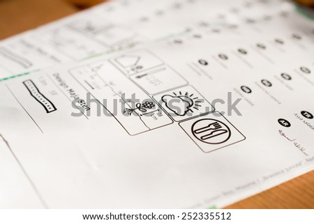 Flower seeds packet with user's Guide - stock photo
