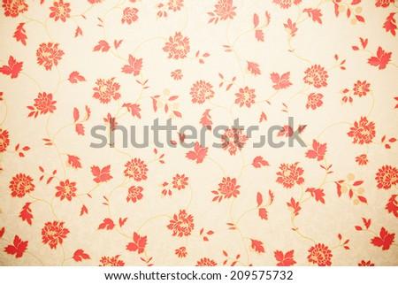 flower stamp wallpaper - stock photo