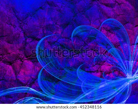 flower style smoke line fire ornament background multicolored