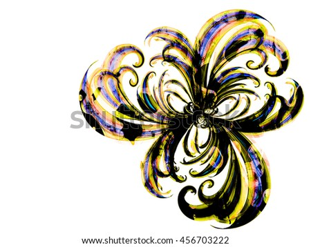 flower style smoke line fire ornament background multicolored, abstract lovely floral textured backdrop