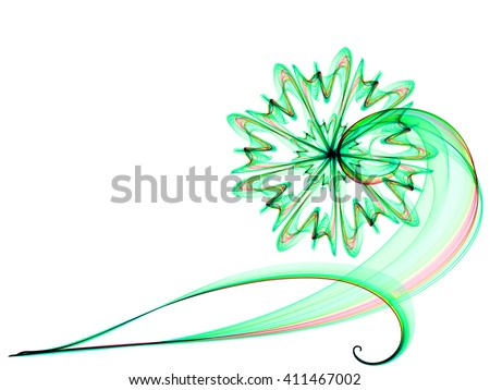 flower style smoke line ornament background