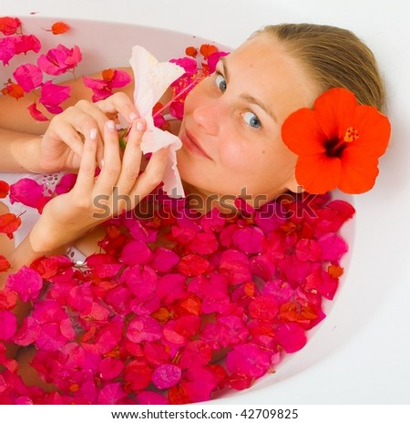 Flower therapy woman
