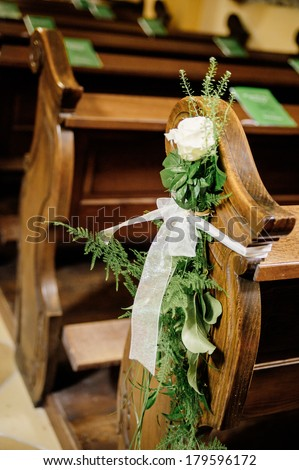 Flower wedding decoration - stock photo