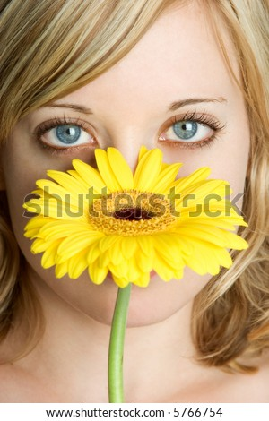 Flower Woman - stock photo