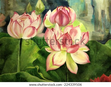 flowering lilies - stock photo