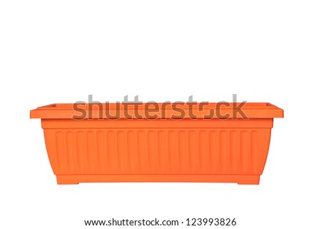 Flowerpot isolated on white background