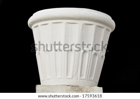 Flowerpot made from marble
