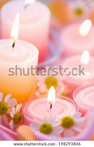 Flowers And Aroma Candles