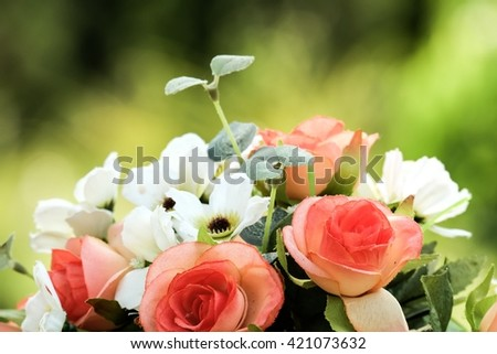 flowers and boquet and romantic