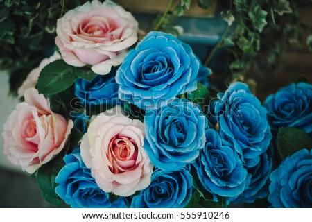 Item wedding day wood flowers vase stock photo 753058003 shutterstock flowers blue pink mightylinksfo Choice Image