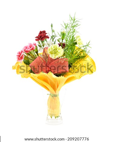 Flowers bouquet isolated on white