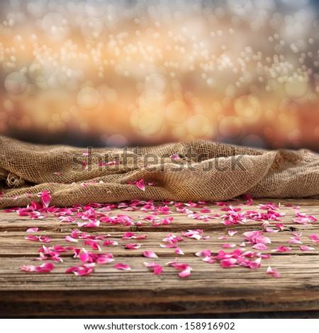 flowers decoration od desk  - stock photo