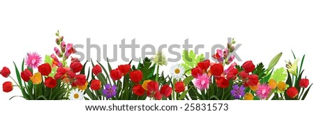 flowers, easter decoration - stock photo