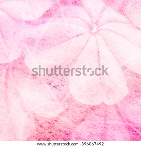 flowers in mulberry paper texture vintage style for background soft focus. - stock photo
