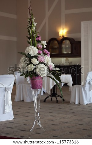 Flowers in the interior - stock photo