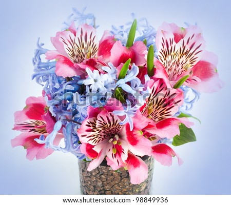 flowers in vase - stock photo