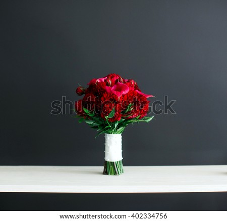 flowers on the background wall