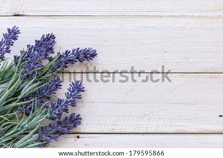 Flowers on wood - stock photo