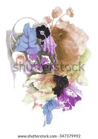 flowers texture new watercolor 6