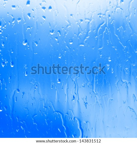 flowing blue water background, flowing water from the steam, flowing with the water glass