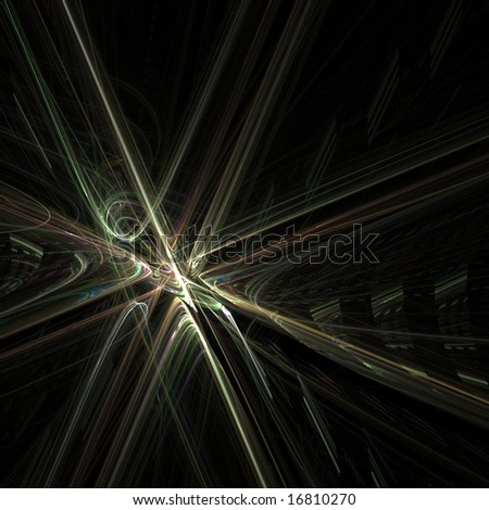 Flowing, threaded cross patterns - fractal abstract background