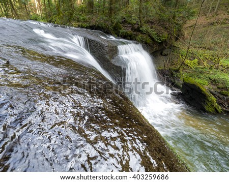 flowing water in the river Strümpfelbach in Germany - stock photo