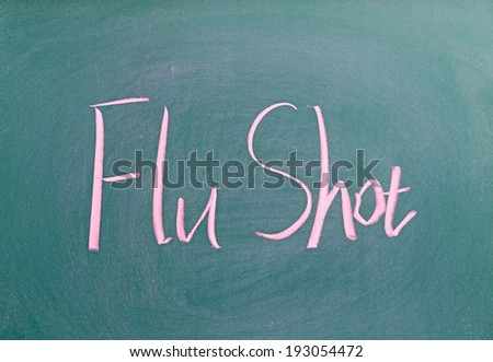 Flu Shot  - stock photo