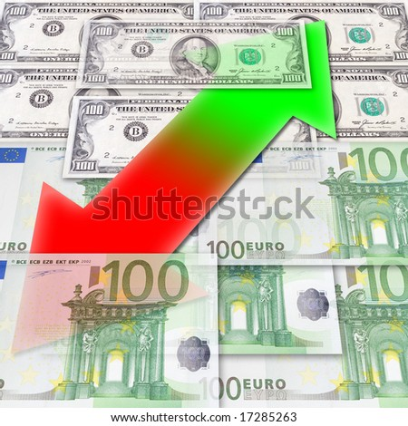 Fluctuations of exchange - stock photo