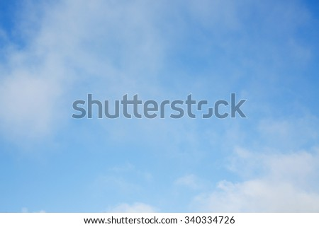 fluffy cloud above blue sky, cloudy sky background - stock photo