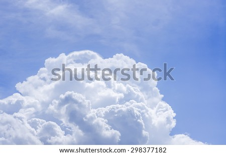 Fluffy cloud and sky - stock photo