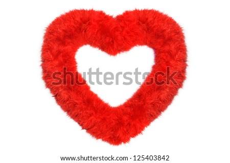 Fluffy Heart - stock photo