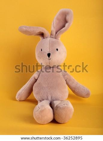 fluffy rabbit toy - stock photo