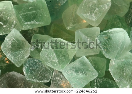 fluorite mineral (crystals) background - stock photo