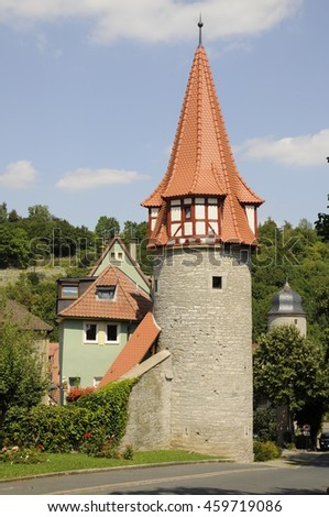 Flurersturm (Flurer tower) in Marktbreit, Germany