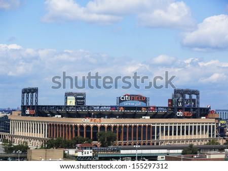 FLUSHING, NY - SEPTEMBER 8: Citi Field, home of major league baseball team the New York Mets on September 8, 2013 in Flushing, NY  - stock photo