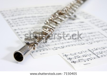 Flute on a piece of notepaper