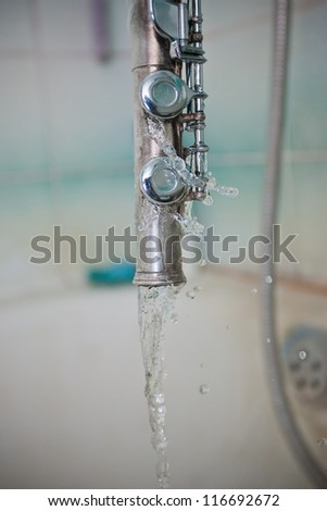 flute tap in the shower