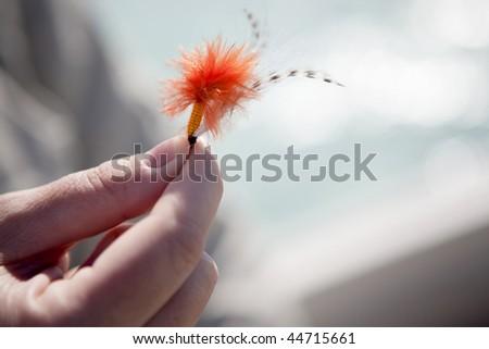 Fly fishing for Bonefish in the Bahamas - stock photo