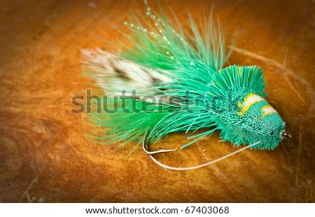 Fly fishing lure large dahlberg diver. - stock photo