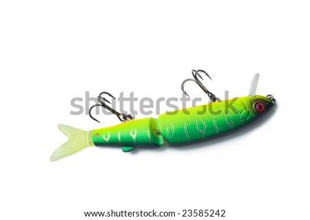fly for fishing a predatory fish - stock photo