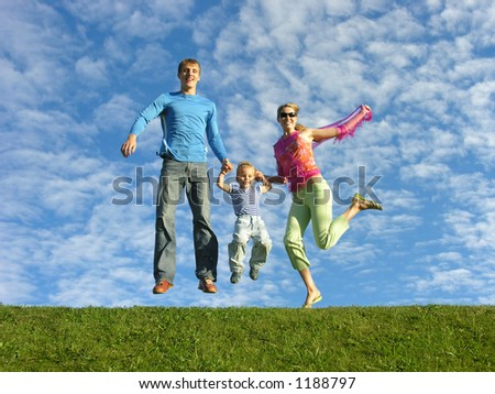 fly happy family under cloudfield