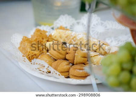 Fly on the food - stock photo