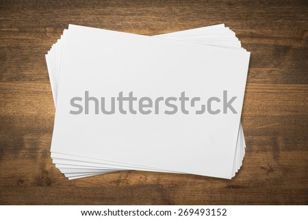 Flyer, blank, stack. - stock photo