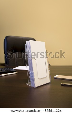Flyer holder stock images royalty free images vectors for Cardboard brochure holder template